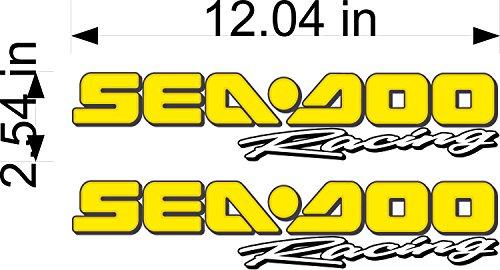 Sea-Doo YELLOW Racing Decal Pair