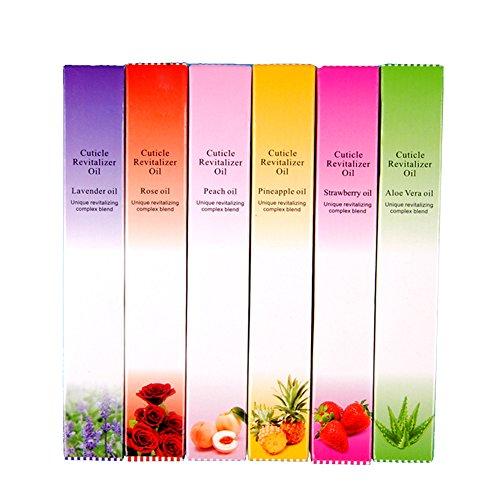 Coscelia Nagelhautpflege-Öl 6x Mix Geschmack Nagelöl Nagel Öl Pinsel Pen Set