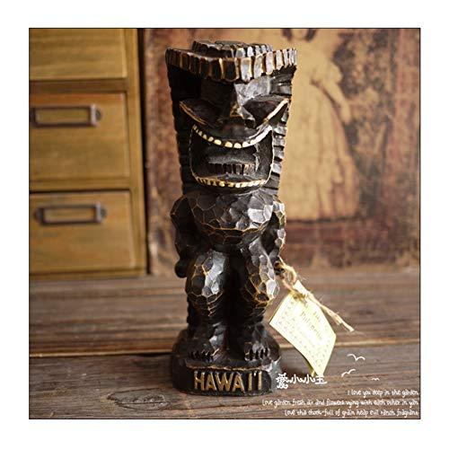 Happy Home Maori Statue Totem Figur Dekoration, Tropischer Stil Der Hawaiianischen Tiki-Kultur, Schutzpatron Der Maori, Kreatives Einzigartiges Geschenk