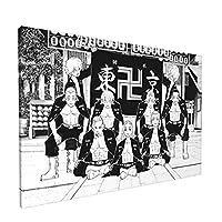 東京リベンジャーズ フレームレス装飾画 インテリア装飾 アートパネル フレーム装飾画 キャンバス 壁飾り 壁掛け アートポスター 贈り物 壁の絵 インテリア装
