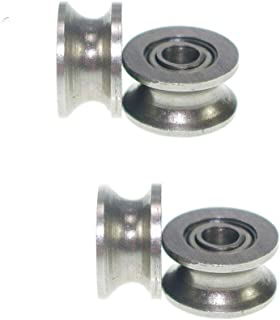 20pcs U Deep Groove Pulley Bearing Rail Ball Bearings Pulleys Wheel,U624ZZ 4x13x7mm