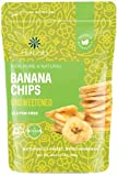 Unsweetened dried banana chips are made from whole bananas, sliced and dehydrated with no sugar added. Enjoy the healthy taste of these naturally sweet, non-GMO, all natural, premium unsweetened dried banana chips conveniently packed in a resealable ...