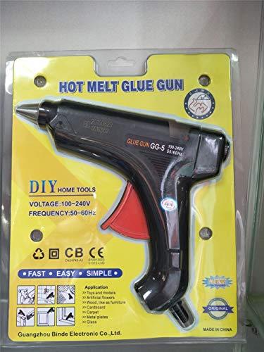 HEEYEE Pistola de Pegamento Caliente, 40W / 60W / 80W / 100W Calefacción Pistola de Pegamento de fusión en Caliente con artesanías de Bricolaje, Reparaciones rápidas, hogar,80W