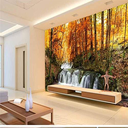 ZJfong klantspecifiek behanggeel laat houten landschapschilderij sofaslaapkamerwoonkamer televisieachtergrond 330x210cm