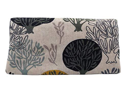 Plan B, Pitillera Tabaco de Liar, Yolo Jinsei, 16 x 8,5 cm, 50 g, con Bolsa Interior Goma Eva, Beige con Arbóles Estampados