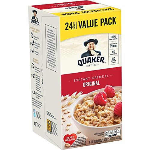 Quaker Original Instant Oatmeal Value Pack, 24 Packets, 23.7 oz
