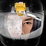 Essuie-Glace électrique pour Moto, Casque De Moto Essuie-Glace Electric Electric Wiper Et Convient À La Plupart des Visières Solaires (Color : Yellow)