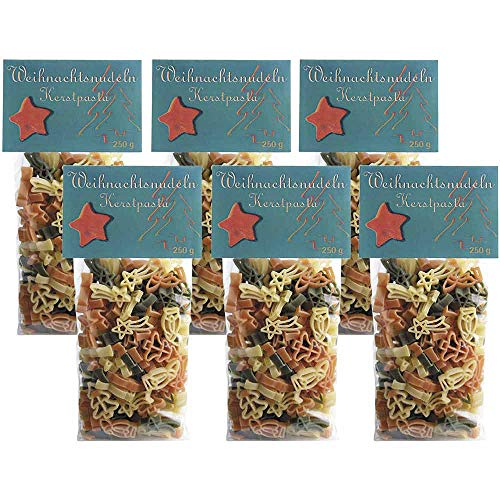 Nudeln Weihnachtsnudeln 6er Pack Eierteigwaren Vegetarisch Schwaben Deutschland 1500g-Pack