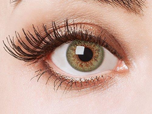 aricona Kontaktlinsen Farblinsen farbig grüne Kontaktlinsen – natürlich bunte farbige Jahreslinsen für den Alltag, 12-Monats Linsen für helle Augenfarben
