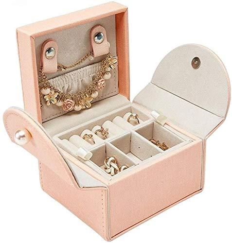 Scatola di stoccaggio dei gioielli Regalo per le donne Box di gioielli in pelle Vetrina portatile Vetrina per gioielli creativo Borsa di stoccaggio de...