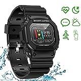 Smart Watch Fitness Tracker, cardiofrequenzimetro Monitoraggio ECG Pressione sanguigna Bracciale...