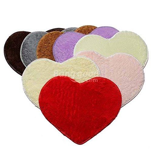 Pink Lizard 50x60 centimetri cuore tappeto camera da letto zerbino forma bagno
