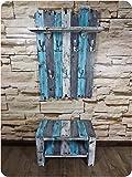 SHaBBy CHic ViNTaGe Holz Garderoben Set mit Sitzbank & XXL Garderobe