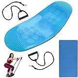 Pateacd Planche d'équilibre Twist Yoga Fitness Balance Board Proprioception Exercice Sport Boards pour l'entraînement à l'équilibre, la Thérapie Physique, Le Fitness (Bleu)