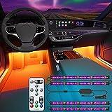 Govee Interior Car Lights, Interior Car LED Lights with Remote and Control Box, 2 Lines Design RGB...