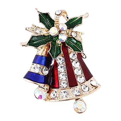 Broche de decoración de Navidad de BBQQQ, bonito diseño de Papá Noel,...