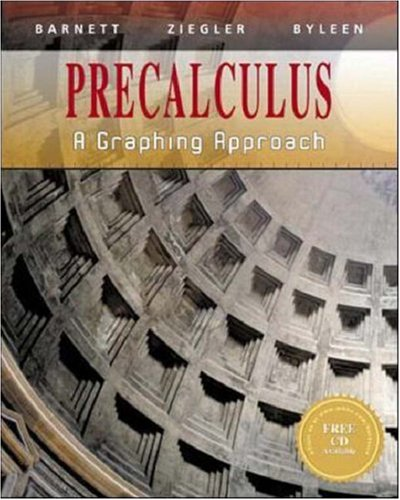 Download Precalculus: A Graphing Approach 0070057176
