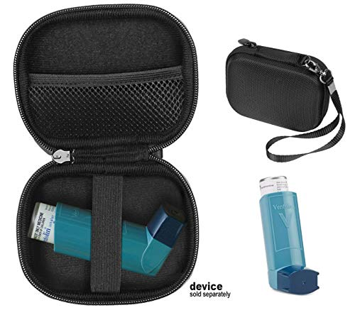 CaseSack Asthma Inhaler Holder case, Compact and Sturdy case for Handy Inhaler for Adults and Kids, with Rooms for Pills and Other Essentials, Ideal for Protection & Carrying