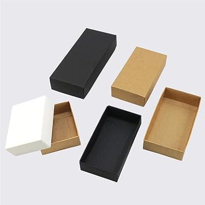 CTOBB Caja de cartón de Regalo de Papel Kraft Color marrón/Blanco/Negro, Caja de Regalo de Papel Negro con Tapa y Caja de cartón, marrón, 29cmx24cmx3cm: Amazon.es: Hogar