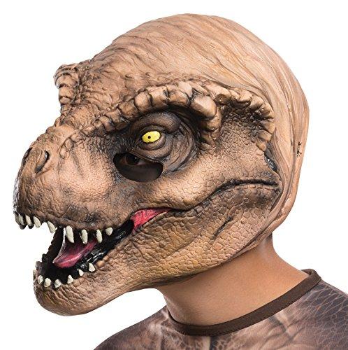 UHC Boy 's Jurassic World T-Rex 3/4Máscara de Vinilo Niño Halloween Accesorio