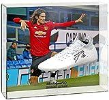 British Sports Museum Edinson Cavani - Botas de fútbol firmadas a mano, diseño de Manchester United