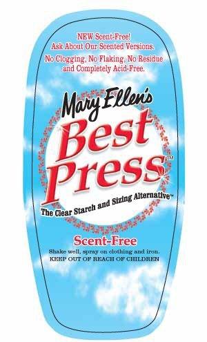 Best Press Ironing Spray 6oz Scent F