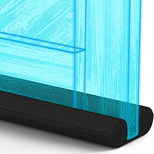 Everlasting Comfort Under Door Draft Stopper - Block 50% More Noise, Wind with 2' Foam Gap Seal - Fits Doors 30' - 36'
