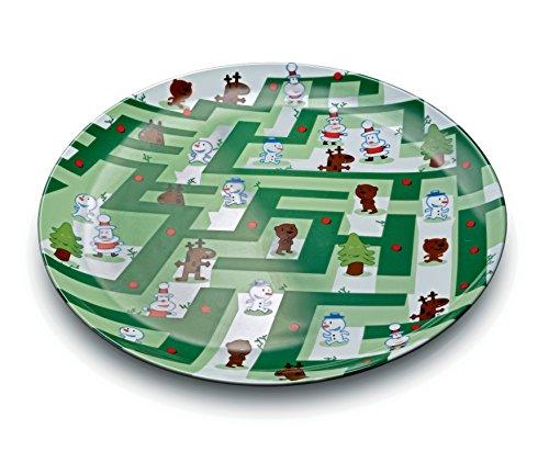 Alessi AMGI55 Plat à friandises Porcelaine décorée, Multicolore