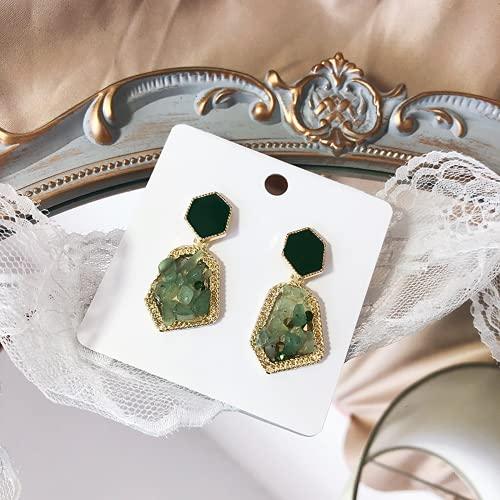 925 Silver Silver Diamond Diamond Pendientes Pendientes Pendientes de temperamento Simple