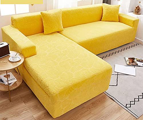 SLOUD Fundas seccionales para sofá, 2 Fundas seccionales para sofá, Funda para sofá en Forma de L, Funda para sofá seccional, Tela de poliéster elástica elástica-A-En Forma de l 2+3 plazas