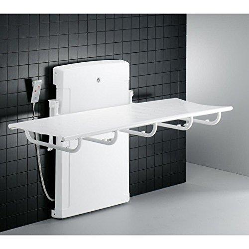 Pressalit ducha de cuidado y Camilla con motor eléctrico 1400mm o 1800mm, max. 150kg, 1800 mm