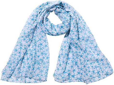 BLUESAILING Women Fashion Scarf Lightweight with small Starfish Marine Element Scarf Woman shawl product image
