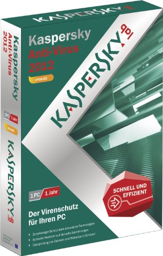 Kaspersky antivirus 2012 - Mise à jour(1 poste, 1 an) [import allemand]