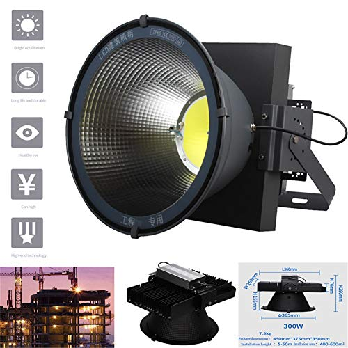Ycvy Flutlicht Lampe, Turm Kronleuchter Wasserdicht LED Hohes Buchtlicht Hohe Helligkeit Sicherheit Langlebig Für Tunnel Seite Außenstrahler (Size : 300W)