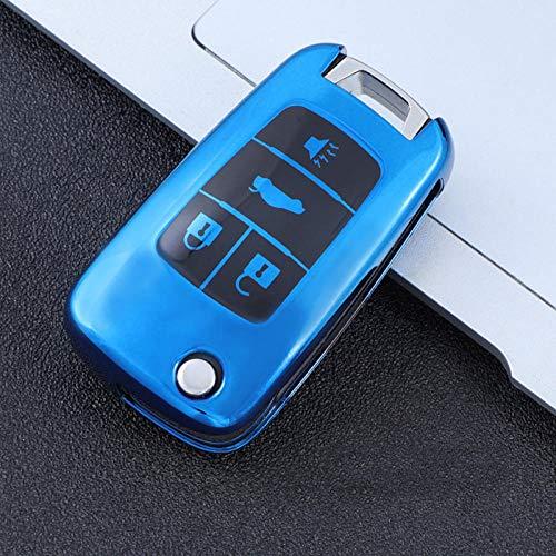 NCUIXZH Weiches TPU Autoschlüssel Cover Case,Für Chevrolet Vauxhall Opel Insignia Astra J Zafira C Mokka Buick Zubehör Schutz-C-blau