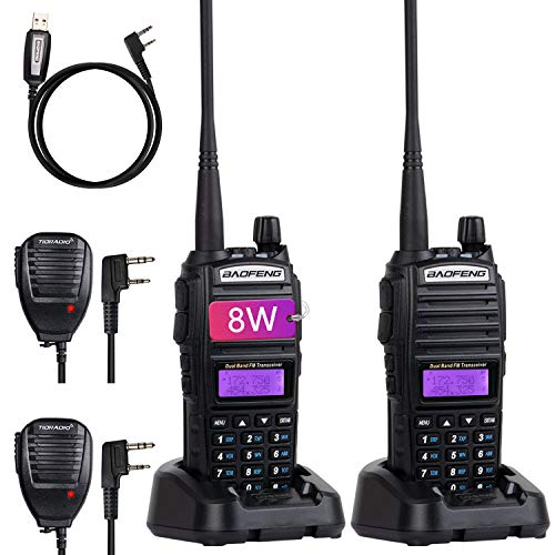 BaoFeng UV-82 BaoFeng Radio High Power Ham Radio BaoFeng Walkie Talkies 2 Way Radio (2 Pack-Black)