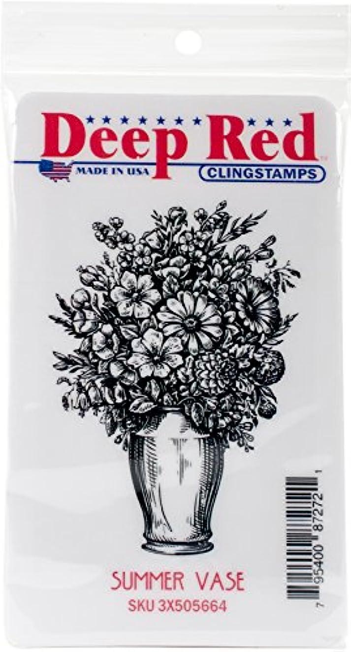 Deep Red Stamps Summer Vase Deep Red Cling Stamp 2