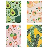 Czemo Pack de 4 Cuaderno A5 Libretas Bonitos Bloc de Notas Cuaderno de Notas Tapa Blanda Cubierta de Kraft Diario de Viaje...