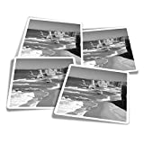 Pegatinas de vinilo (juego de 4) 10 cm - BW - Doce Apóstoles Beach Victoria Australia Divertidas calcomanías para portátiles, tabletas, equipaje, reserva de chatarra #40923