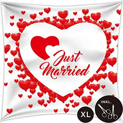 von Rafenstein Juego de sábanas para boda XL con forma de corazón...