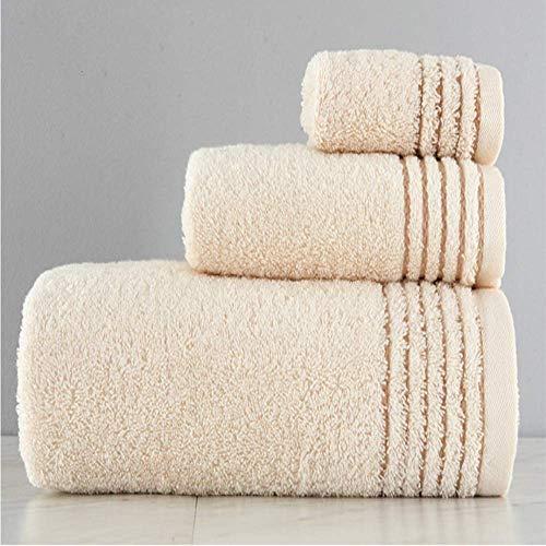 DSJDSFH zachte comfortabele en gezonde ademende biologische katoen handdoek badhanddoek katoenen set 34 * 34, 34 * 76, 70 * 140Cm3-delige set