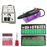 Máquina de taladro de uñas Máquina de manicura eléctrica Set de brocas de uñas Kit pluma Pedicura Herramientas Fresadoras para Manicura Profesional Gel Polaco Quitar