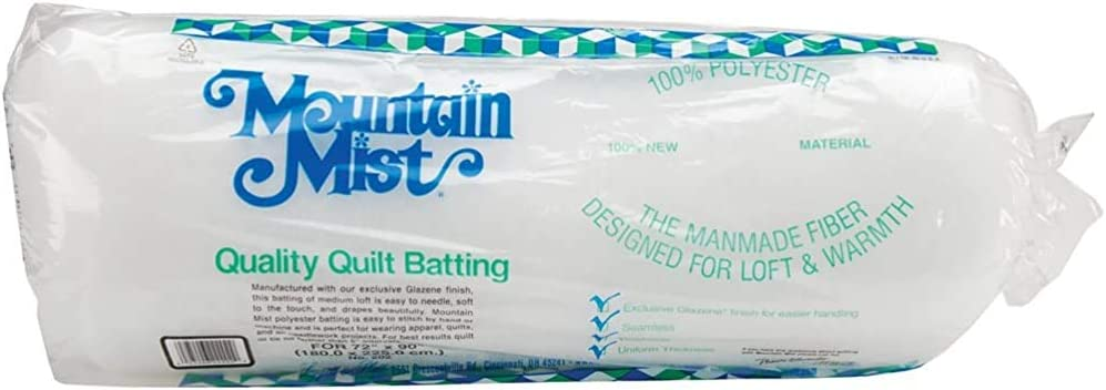 Polyester Quilt Batting 72-inch-by-90-inch