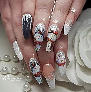 12 sets Tis the season 12 days of christmas party NAIL DECALS night before Christmas eve pin up girl NAIL WRAPS snow flakes ugly christmas sweater NAIL ART STICKERS