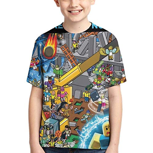 maichengxuan Kids/Youth Dabbing Ro-blox T-Shirts 3D Short Sleeve Boys & Girls Summer Tees