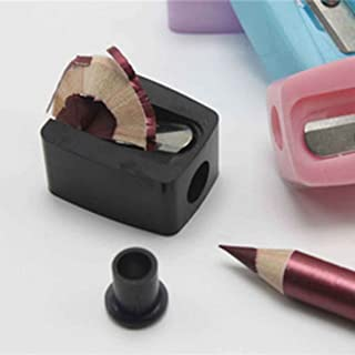 F-blue Practical Beauty Eyebrow Pencil Comb Makeup Cosmetic Tool Pencil Sharpener Black 1pcs