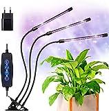 VOYOMO LED Pflanzenlampe Klemme mit 24H Automatische Zeitschaltuhr, 3 Timer, 3 Modus, Dimmbar 6 Lichtstärken Pflanzen...