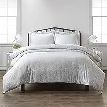 Simply Soft Premium 3 Piece Vine Trellis Print Duvet Cover Bed Sheet Set, Twin/Twin Extra Long, Gray