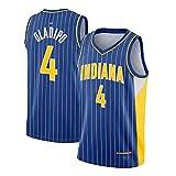 CNMDG Camiseta de baloncesto Victor Oladipo 2021 New Season Indiana Pacers 4# Blue City Edition, camiseta de baloncesto retro (S-XXL) XL
