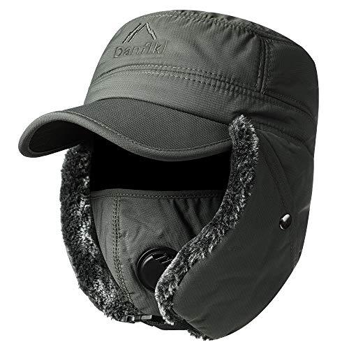 Lachi Unisex Sombrero de Invierno Sombrero de Felpa a Prueba de Viento Sombrero Caliente Gorro Antipolvo Sombrero de Esquí...